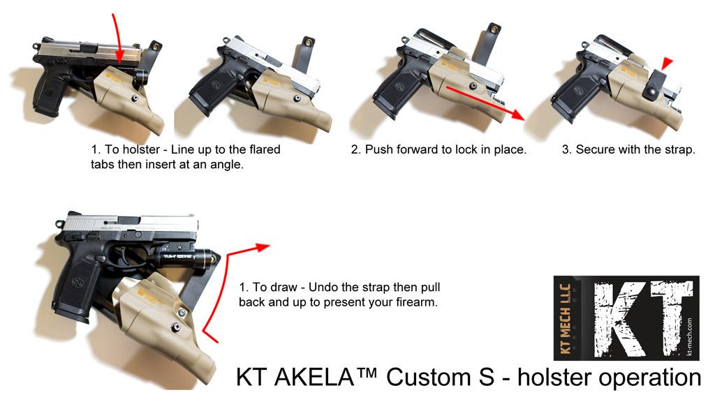 KT MECH LLC - Suppressor compatible holster